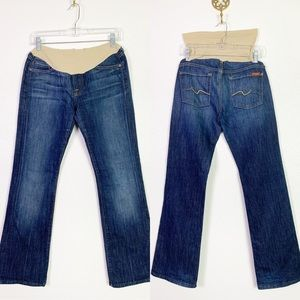 7 For All Mankind maternity jeans 28 euc